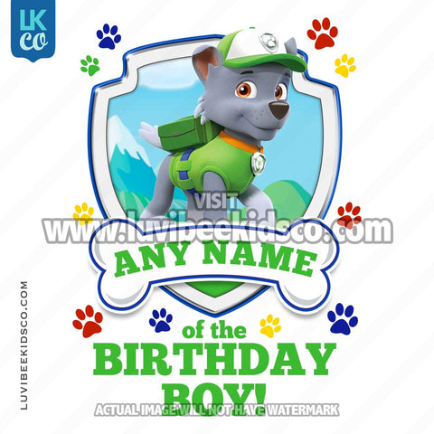 Paw Patrol - Green Rocky Family Member of the Birthday Boy - LuvibeeKidsCo