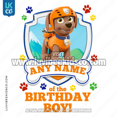 Paw Patrol - Orange Zuma Family Member of the Birthday Boy - LuvibeeKidsCo