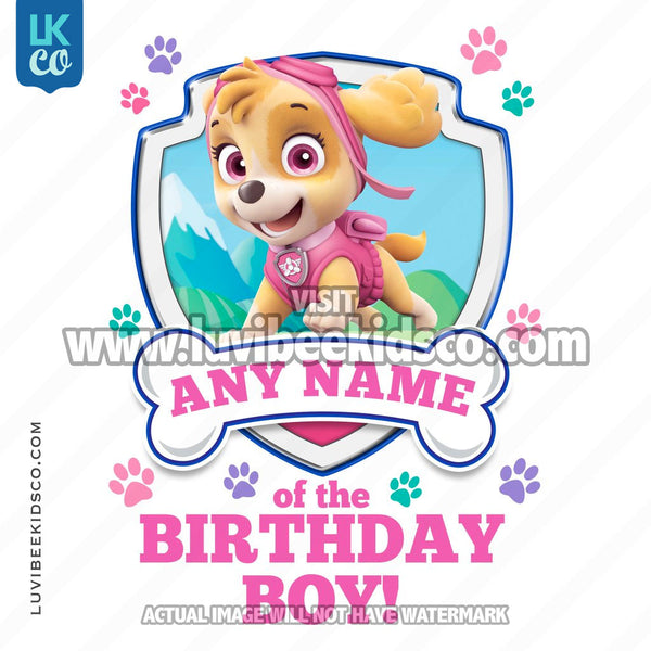 Paw Patrol - Pink Skye Family Member of the Birthday Boy - LuvibeeKidsCo
