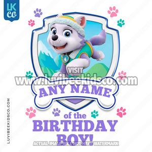 Paw Patrol - Purple Everest Family Member of the Birthday Boy - LuvibeeKidsCo