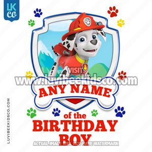 Paw Patrol - Red Marshall Family Member of the Birthday Boy - LuvibeeKidsCo