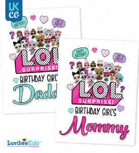 LOL Surprise Iron On Transfer Set - Mommy & Daddy - LuvibeeKidsCo