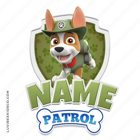 Paw Patrol Iron On Transfer - Family Members Add-on | Tracker Olive Green - LuvibeeKidsCo