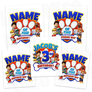 Paw Patrol Iron On Transfers Family Pack | Paw Print - LuvibeeKidsCo