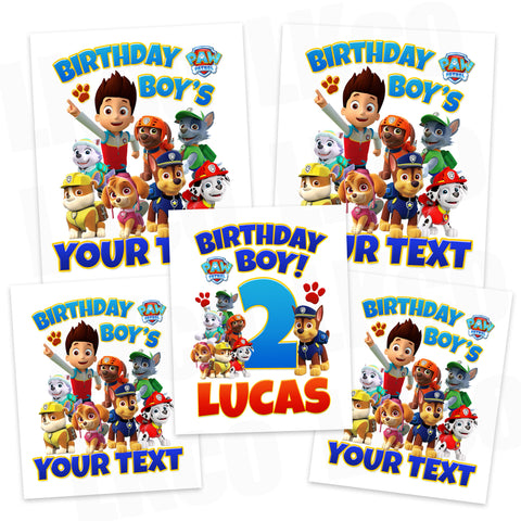Paw Patrol Iron On Transfers Family Pack | Birthday Boy #1 - LuvibeeKidsCo
