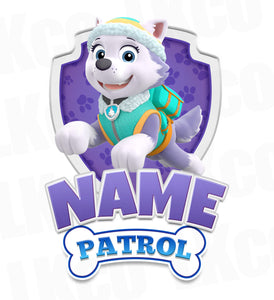 Paw Patrol Iron On Transfer - Family Members Add-on | Everest Purple - LuvibeeKidsCo