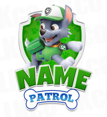 Paw Patrol Iron On Transfer - Add Family Member | Rocky Green