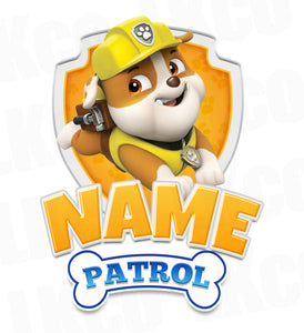 Paw Patrol Iron On Transfer - Family Members Add-on | Rubble Yellow - LuvibeeKidsCo