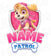 Paw Patrol Iron On Transfer - Family Members Add-on | Skye Pink