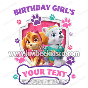 Paw Patrol Iron On Transfer - Girls Paw Prints | Family Members Add-on #2 - LuvibeeKidsCo