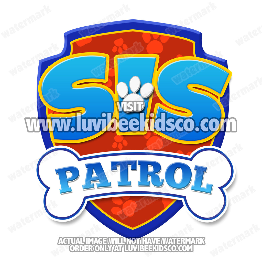Paw Patrol Iron On Transfer - Patrol | Sis Patrol