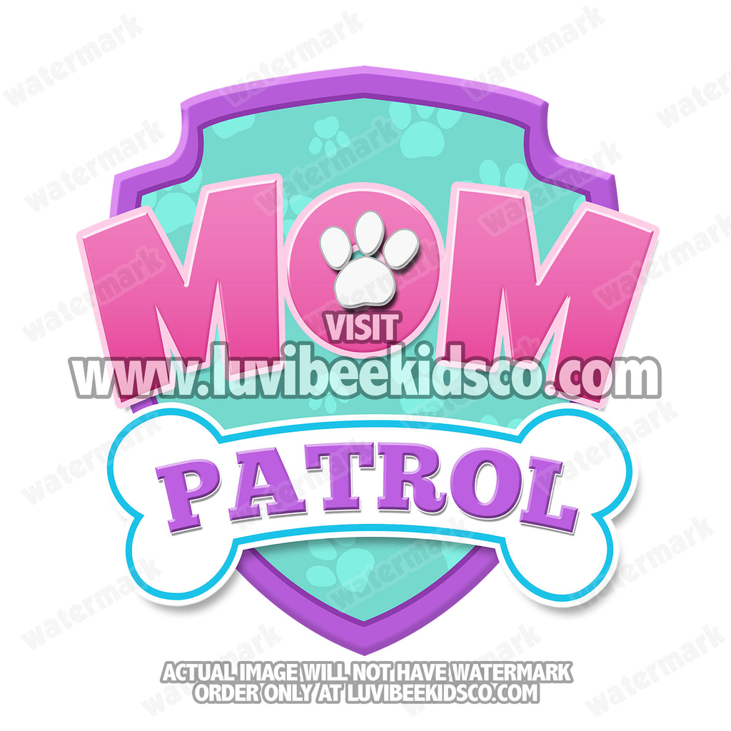 Paw Patrol Iron On Transfer - Patrol Pink | Mom Patrol
