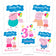 Peppa Pig Iron On Transfers Family Pack | Names and Characters can be Changed