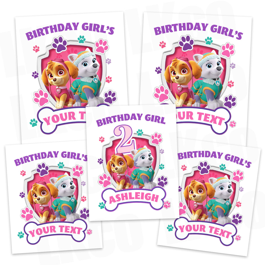 Paw Patrol Iron On Transfers Family Pack   Pink Paw Prints