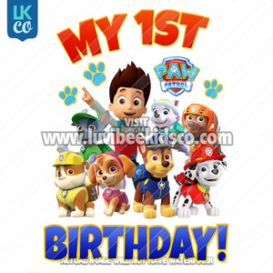 Paw Patrol Iron On Transfer | My First Birthday - LuvibeeKidsCo