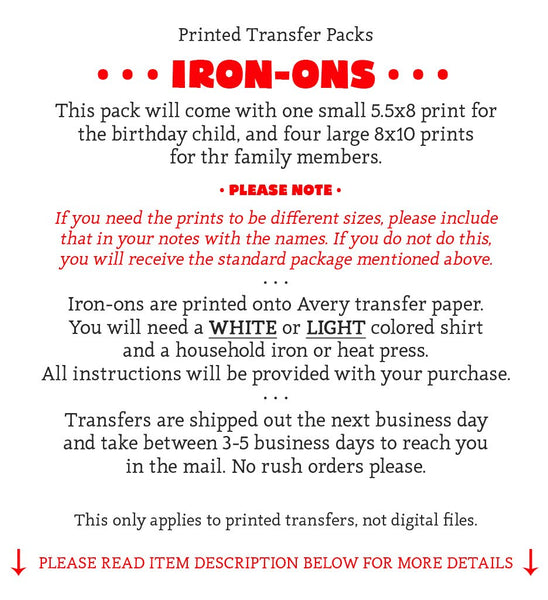 Trolls Iron On Transfers Family Pack | Birthday Girl - LuvibeeKidsCo
