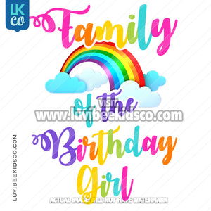 Rainbow Digital File [12-24hr email] for Birthdays and Events - Add Family Members