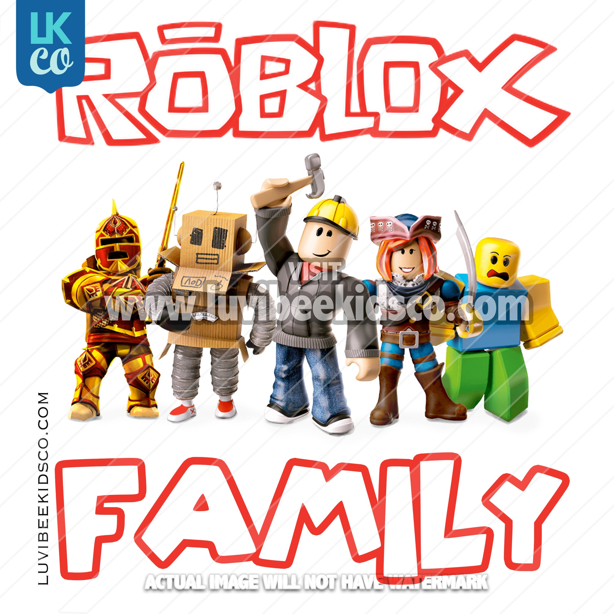 Roblox Heat Transfer Designs - Add Family Members