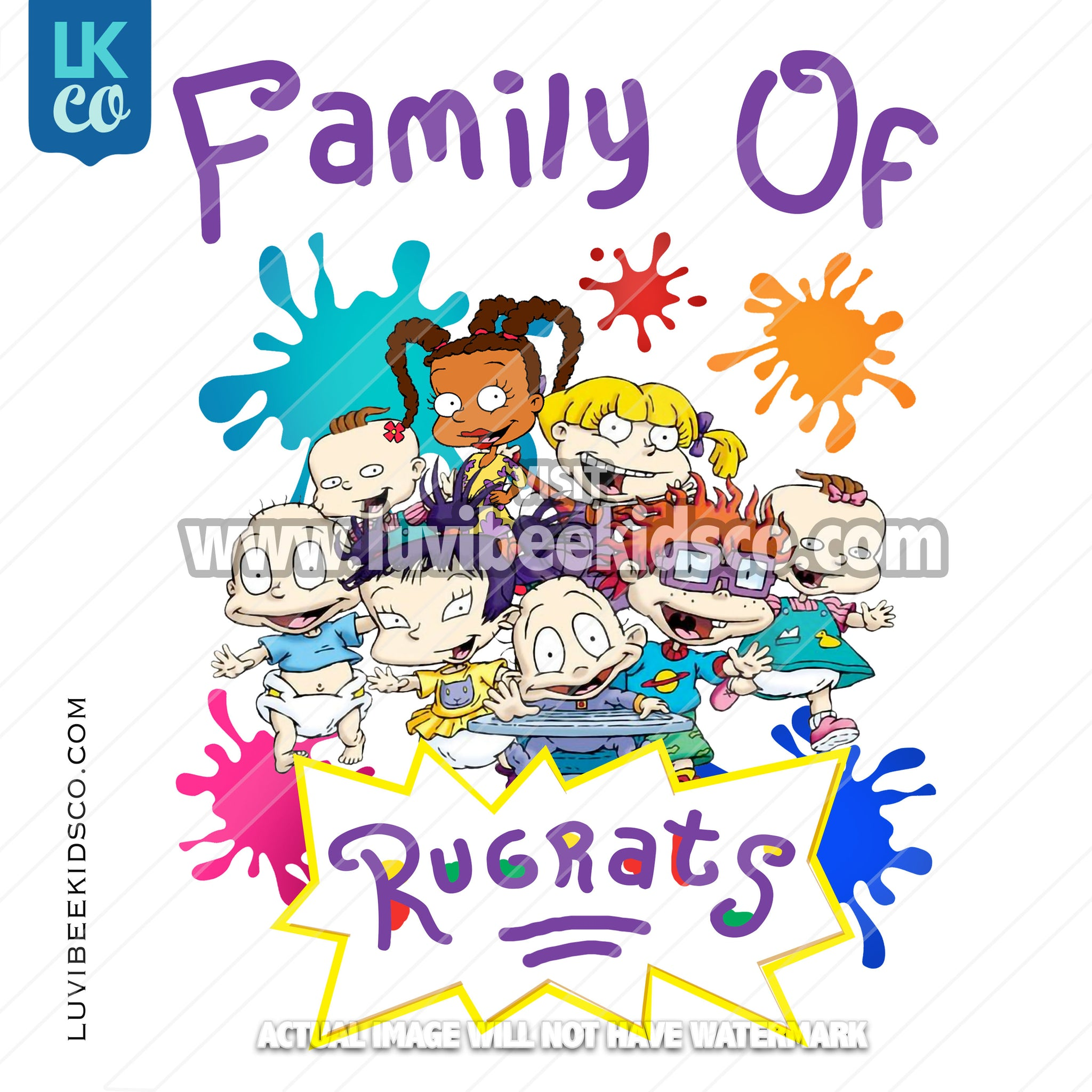 Rugrats Heat Transfer Designs - Add Family Members - Printed Transfer OR Digital File - LuvibeeKidsCo