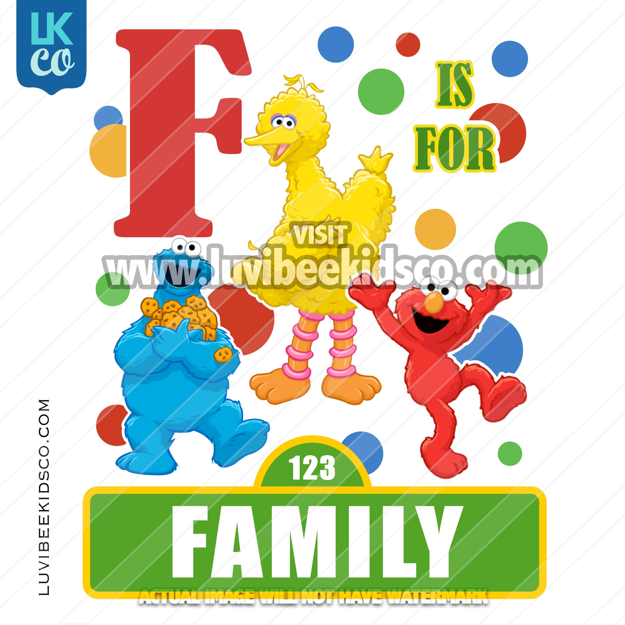 Sesame Street Birthday Iron On Transfer - Add A Family Member - Style 03 - LuvibeeKidsCo