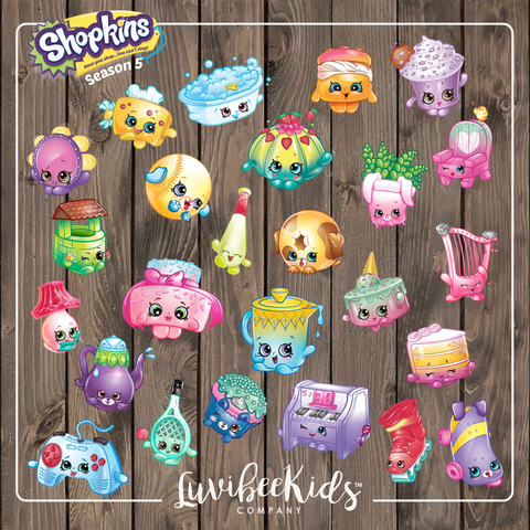 Shopkins Season 5 Character Clipart | PNG Clipart Instant Download - LuvibeeKidsCo