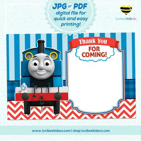 Thomas The Train Thank You Card Blank Luvibeekidsco