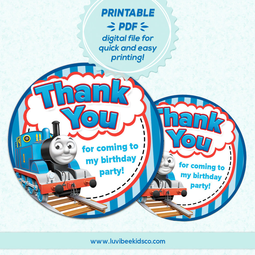 "Thomas the Train - Thank You 2"" Round Labels 