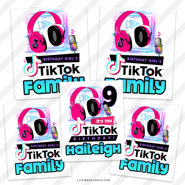TikTok Heat Transfer Designs | Family Pack