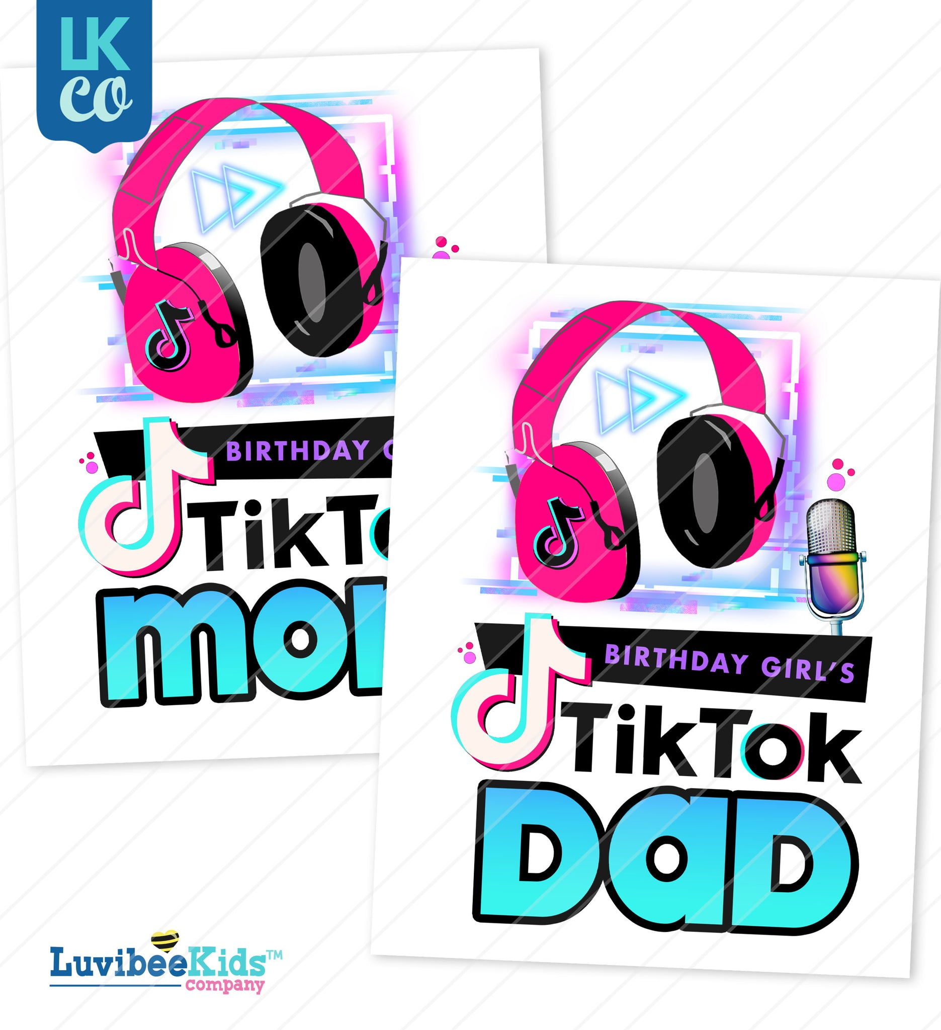 TikTok Heat Transfer Design | Mom & Dad
