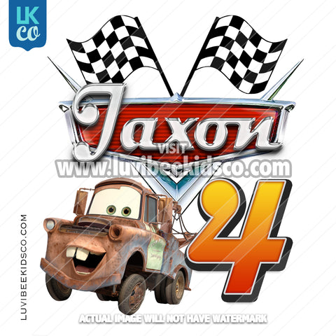 Disney Cars Iron On Transfer | Tow Mater - LuvibeeKidsCo