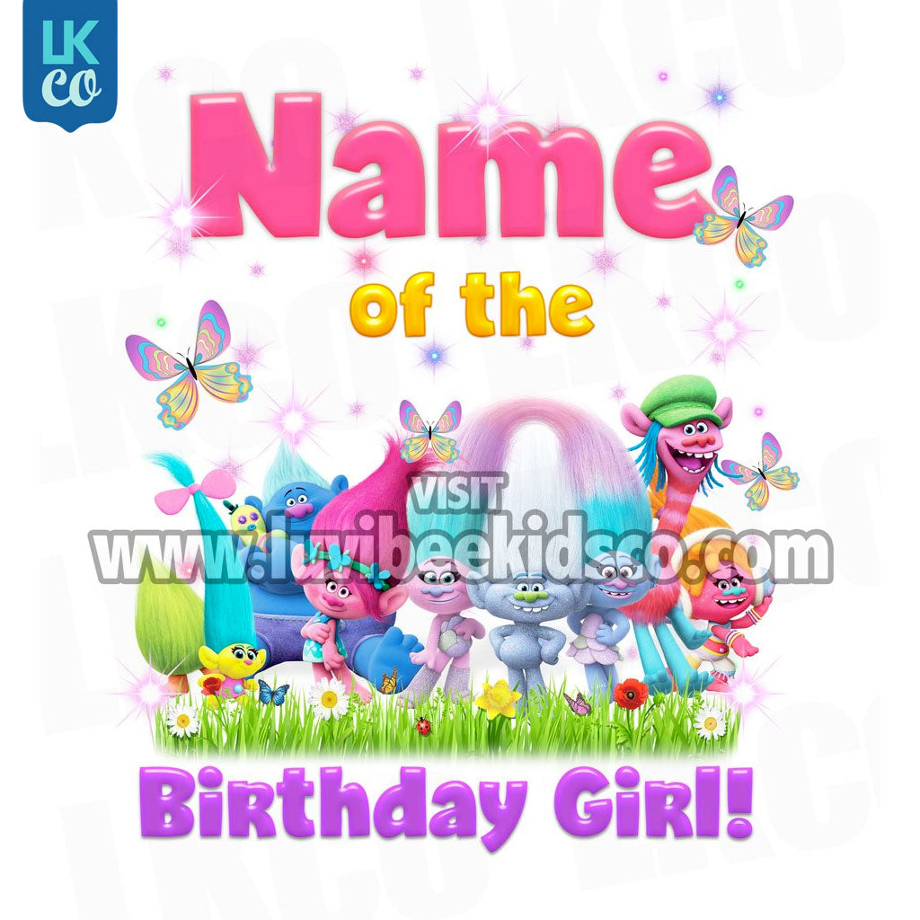 Trolls Iron On Transfer - Add Family Member | Birthday Girl