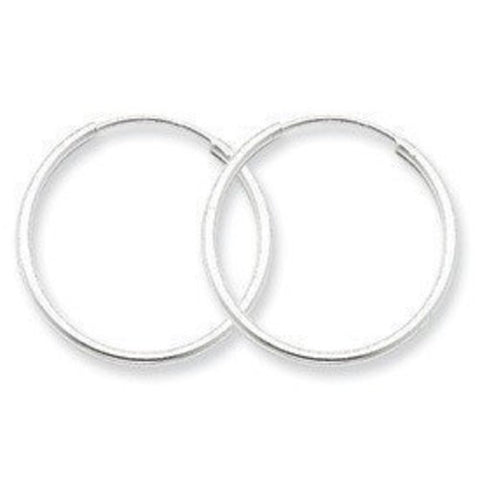 4 Pieces of Silver 10mm Endless Nose Hoop Earrings