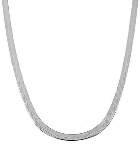 Silver 7mm 30 Inch Herringbone Chain Necklace
