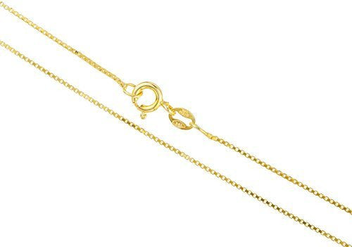 Silver .75mm Box Chain Necklace (vermeil, 18 Inches)
