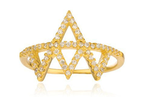 Silver  'Crown' Finger Ring (7)