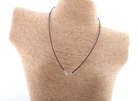 Brown 18 Inch Leather Cord Chain Necklace with Silver Clasp