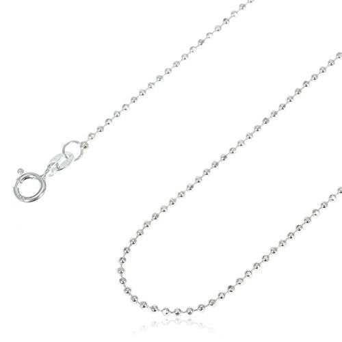 925 Sterling Silver 1.5mm D-Cut Bead Chain - Made In Italy