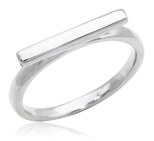 925 Sterling Silver Bar Finger Ring