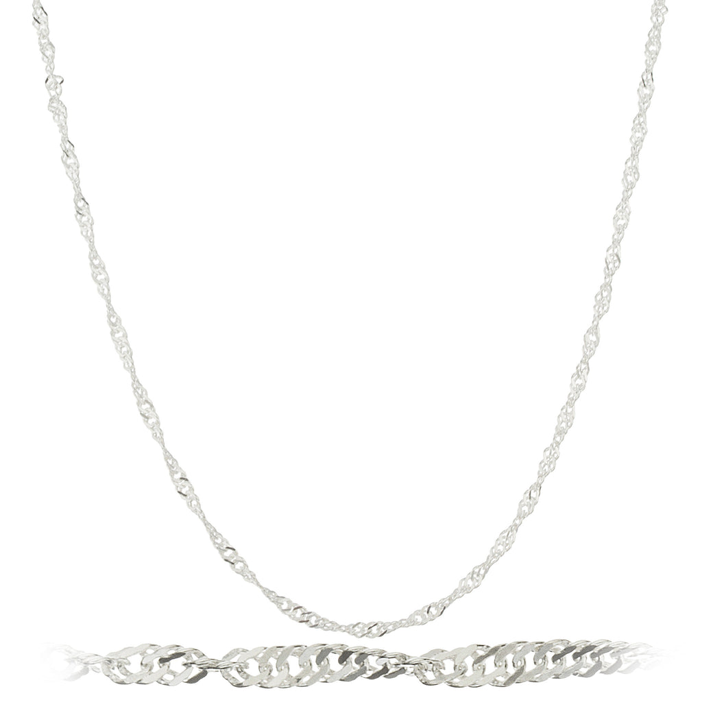 Silver 2mm Singapore Chain Necklace
