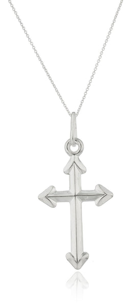 Ladies Real 925 Sterling Silver 'God Is Everywhere' Cross Pendant With An 18 Inch Link Necklace