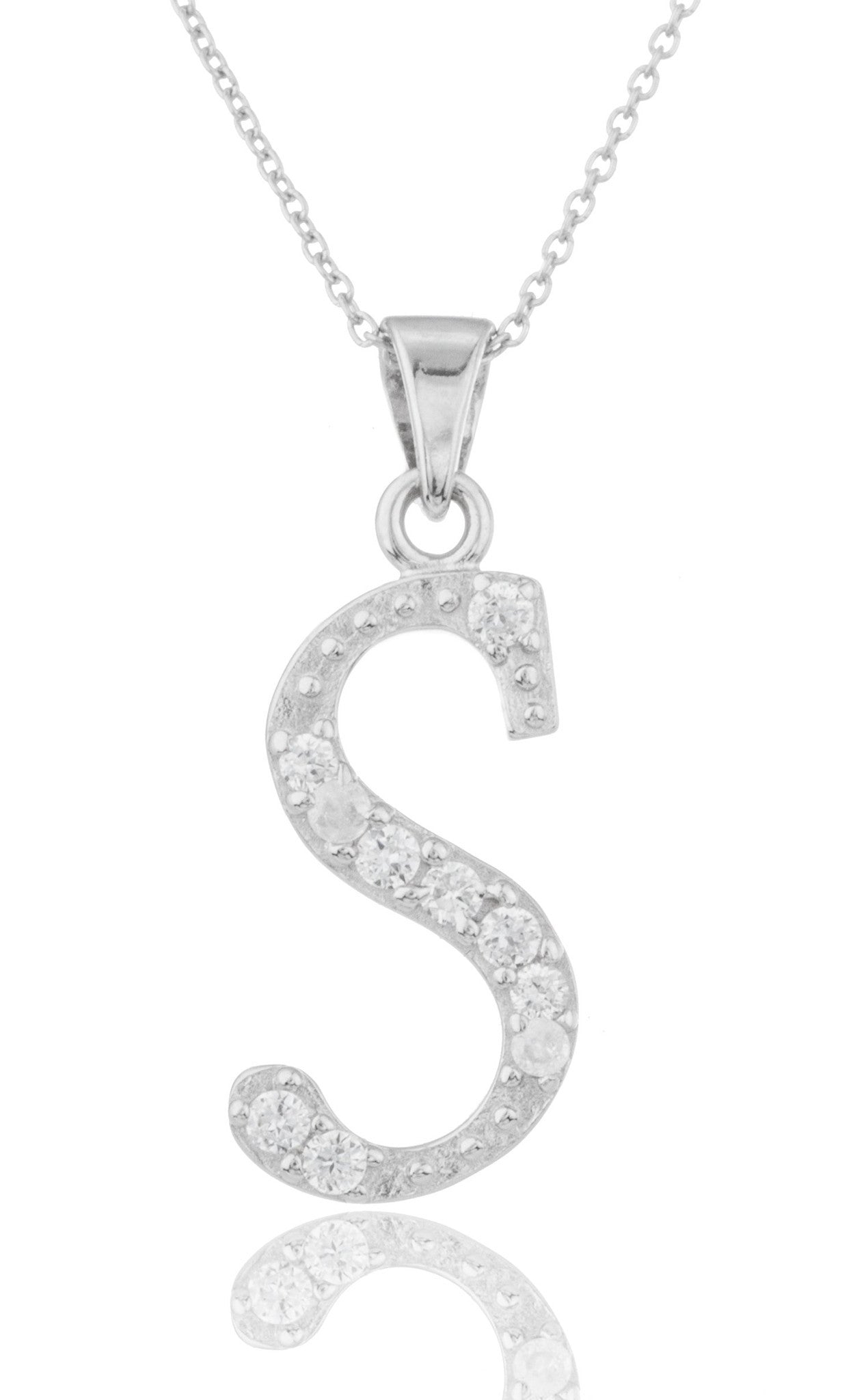 cz stones cubic real an of the inch letters and alphabet ladies products link zirconia silver sterling r pendant with necklace