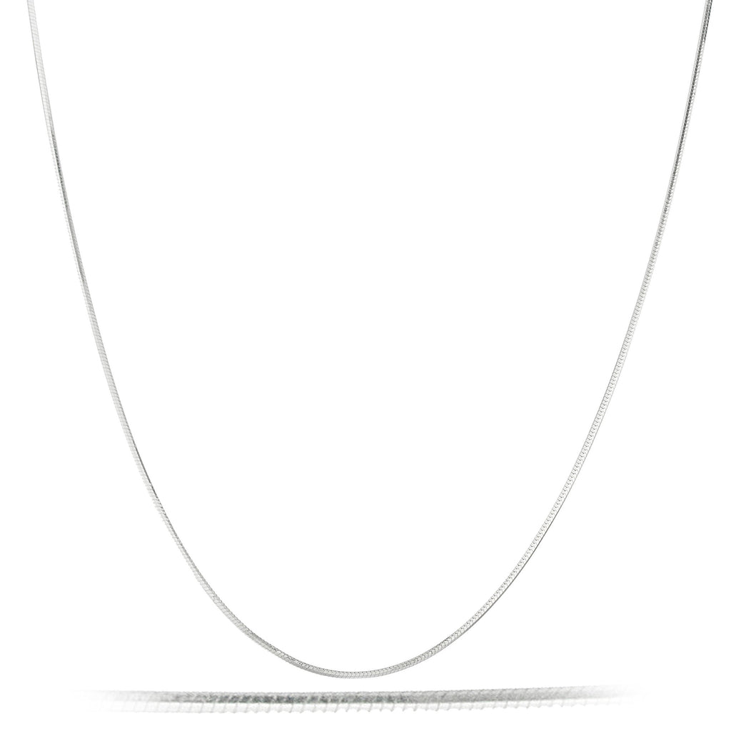 Mens Real 925 Sterling Silver 30 Inch 1mm 8 Sided Snake Chain Necklace
