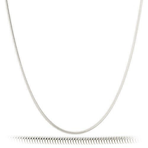 Real 925 Sterling Silver 2mm Snake Chain Necklace (20 Inches)