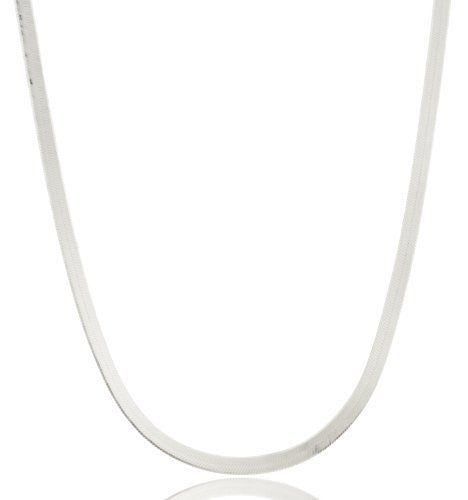 Real 925 Sterling Silver 3mm Herringbone Chain (18 Inches)