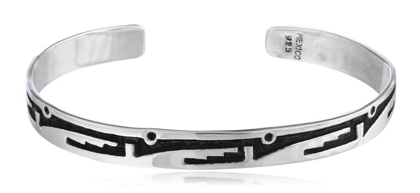 Real 925 Sterling Silver Adjustable Solid Cuff Bangle Bracelet With Patterns