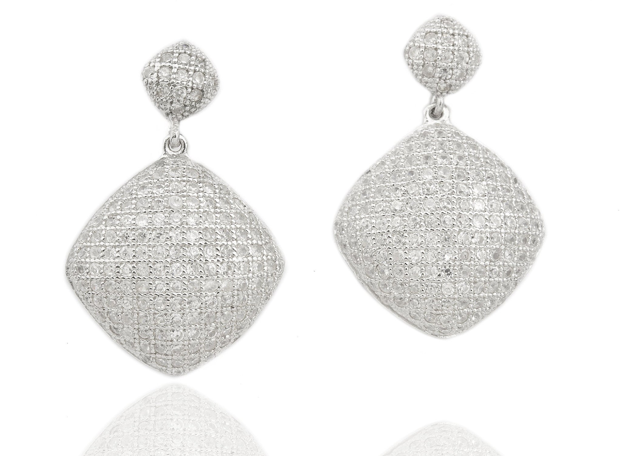 gold square shaped and octagon white earrings diamond round tanzanite product drop in