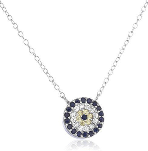 Real 925 Sterling Silver Flower Charm With Multicolor Cubic Zirconia Stones And An 18 Inch Necklace