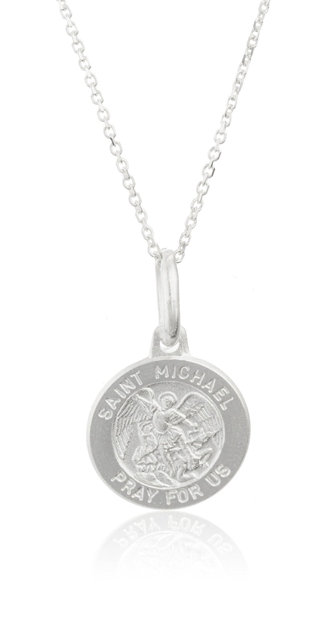 shield silver catholic company pendant medal the michael st saint sterling michaels