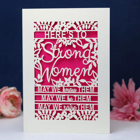 Papercut 'Strong Women' Card