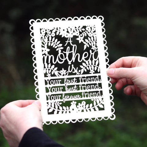 A Mother Is... Papercut